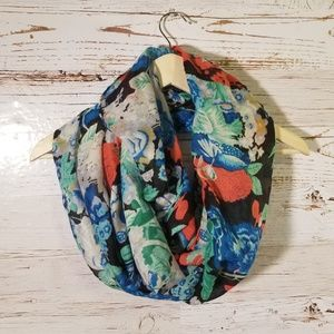 Adorable floral print infinity scarf